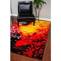 "Persian Rugs Modern Lava Multicolored Polypropylene Area Rug - 7'10"" x 10'"