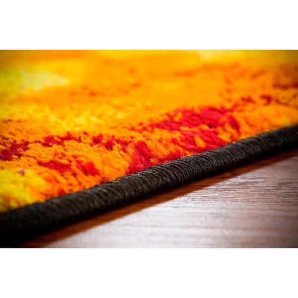 Persian Rugs Modern Lava Red Black