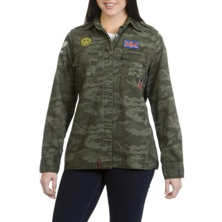 Lee Cooper Women's Patched Camo Cotton Workwear Top