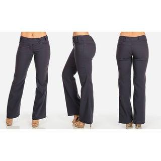 Women's Soft Dressy Grey Rayon, Spandex Work Pants