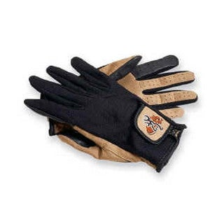 Browning Men's Tan/Black Fabric Mesh Back Shooting Gloves