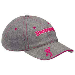 Browning Heather Grey and Pink Cap