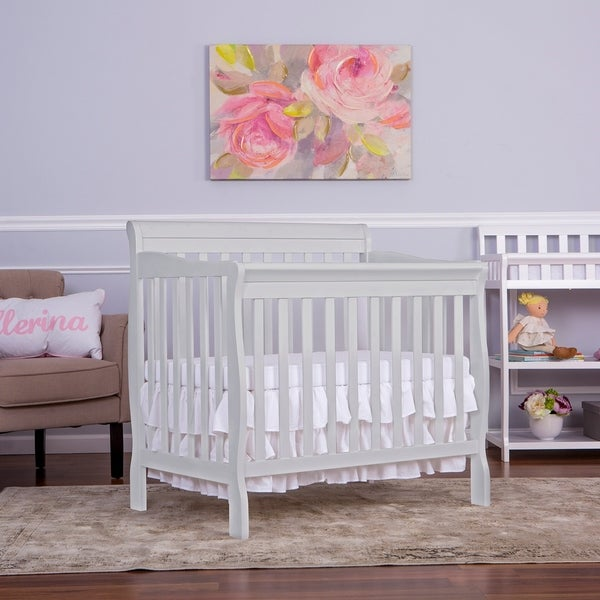 Dream On Me Aden Convertible 4 In 1 Mini Crib Grey
