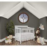 Dream On Me Aden Convertible 4-in-1 Mini Crib - Grey