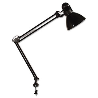 Ledu Opti Series Swing Arm Incandescent Lamp 30-inch Reach Black