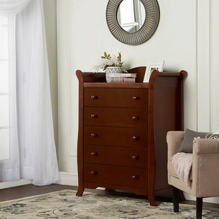 Dream on Me Freeport Espresso Wood 5-drawer Chest