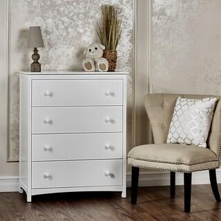 Dream On Me Arlington White Wood 4-drawer Chest