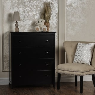 Dream On Me Arlington Black Wood 4-drawer Chest of Drawers
