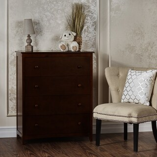 Dream On Me Arlington Brown Pine 4-drawer Chest