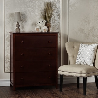 Dream On Me Arlington Brown Wood 4-drawer Chest
