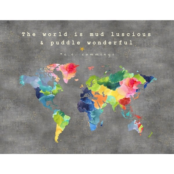 Marmont Hill - 'The World Is Mud II' by Keren Toledano Painting Print on Wrapped Canvas - Blue