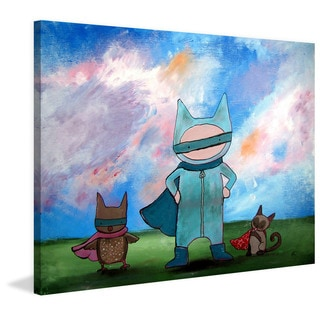 Marmont Hill - 'Masked Heroes' by Andrea Doss Painting Print on Wrapped Canvas