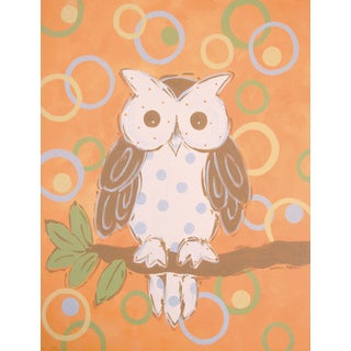 Marmont Hill - 'Whimsy Owl' by Reesa Qualia Painting Print on Wrapped Canvas