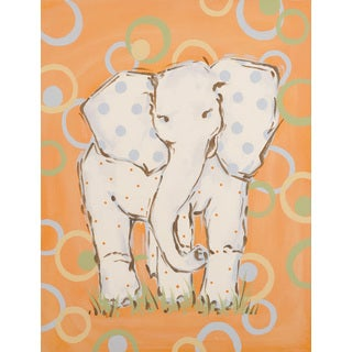 Marmont Hill - 'Whimsy Elephant' by Reesa Qualia Painting Print on Wrapped Canvas