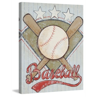 Marmont Hill - 'Baseball Stars' by Reesa Qualia Painting Print on Wrapped Canvas