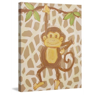 Marmont Hill - 'Tan Monkey' by Reesa Qualia Painting Print on Wrapped Canvas