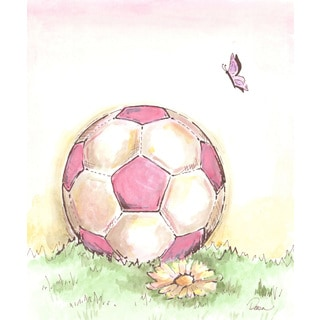 Marmont Hill - 'Soccer' by Reesa Qualia Painting Print on Wrapped Canvas