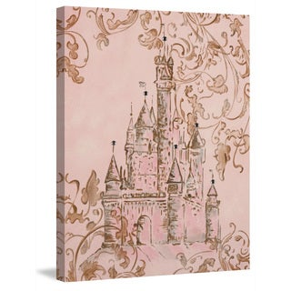 Marmont Hill - 'Lavish Castle' by Reesa Qualia Painting Print on Wrapped Canvas