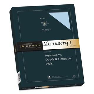 Southworth 25-percent Cotton Manuscript Covers Blue 30lb Wove 9 x 12 1/2 100 Sheets