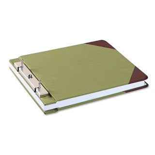 Wilson Jones Canvas Sectional Storage Post Binder 3-inch Capacity Green