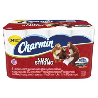 Charmin Ultra Strong Bathroom Tissue 2-Ply 4 x 3.92 77/Roll 24 Roll/Pack