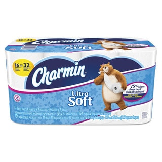 Charmin Ultra Soft Bathroom Tissue 2-Ply 4 x 3.92 154/Roll 16 Roll/Pack