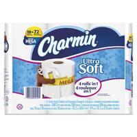 Charmin ULettera Soft Bathroom Tissue 2-Ply 4 x 3.92 308/Roll 18 Roll/Pack