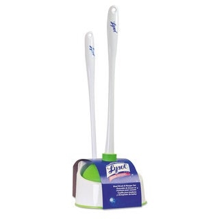 LYSOL Brand Lysol Bowl Brush with Plunger and Caddy 20 1/4 inches White/Green