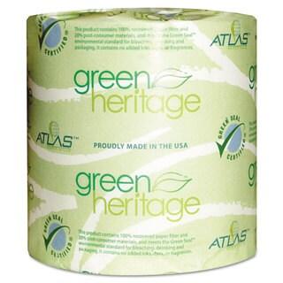 Atlas Paper Mills Green Heritage Toilet Tissue 4 1/2 x 3 4/5 Sheets 2-Ply 500/Roll 96 Rolls/Carton