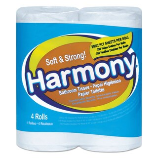 Atlas Paper Mills Harmony Toilet Tissue 2-Ply White 76 Sheets/Roll
