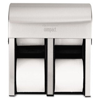 Georgia Pacific Professional Compact Quad Vert 4Roll Coreless Tissue Dispenser Stl 11 3/4 x 6 9/10 x 13 1/4