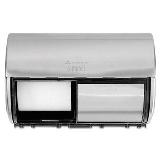 Georgia Pacific Professional Compact Horizontal 2-Roll Tissue Dispenser Stnlss Steel 10 1/8 x 6 3/4 x 7 1/8