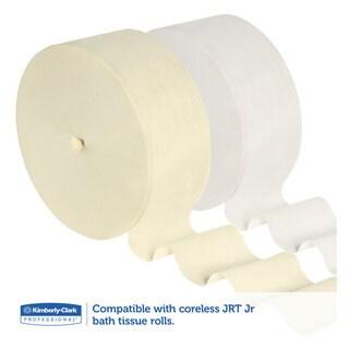Kimberly-Clark Professional Coreless JRT Tissue Dispenser 14 3/10-inch wide x 5 9/10-inch deep x 9 4/5h White