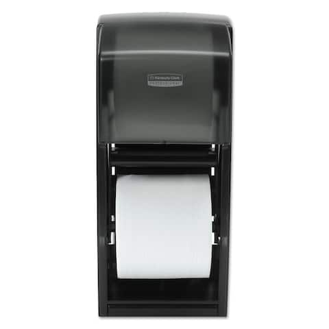 Kimberly-Clark Professional Coreless Double Roll Bath Tissue Dispenser 6 6/10 x 6 x13 6/10 Plastic Smoke