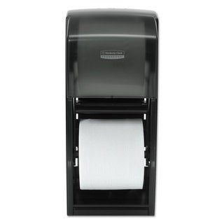 Kimberly-Clark Professional Coreless Double Roll Bath Tissue Dispenser 6 6/10 x 6 x13 6/10 Plastic Smoke