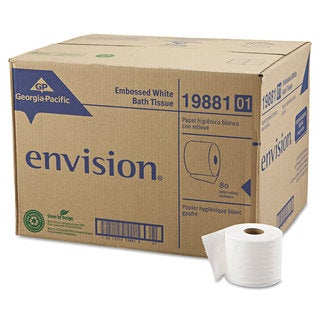 Georgia Pacific Professional Embossed Bathroom Tissue 1-Ply 80 Rolls/Carton