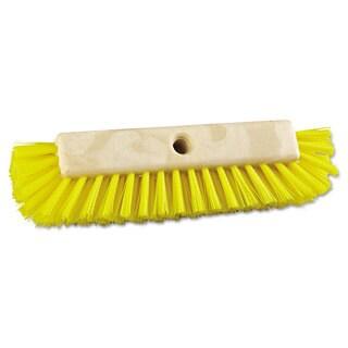 Boardwalk Dual-Surface Scrub Brush Plastic Fill 10-inch Long Yellow