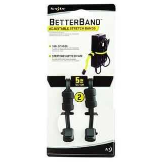 Nite Ize Black 5-inch Better Bands (Set of 2)