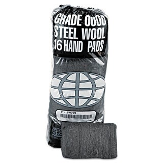 GMT Industrial-Quality Steel Wool Hand Pad 0000 Super Fine 16/Pack 192/Carton
