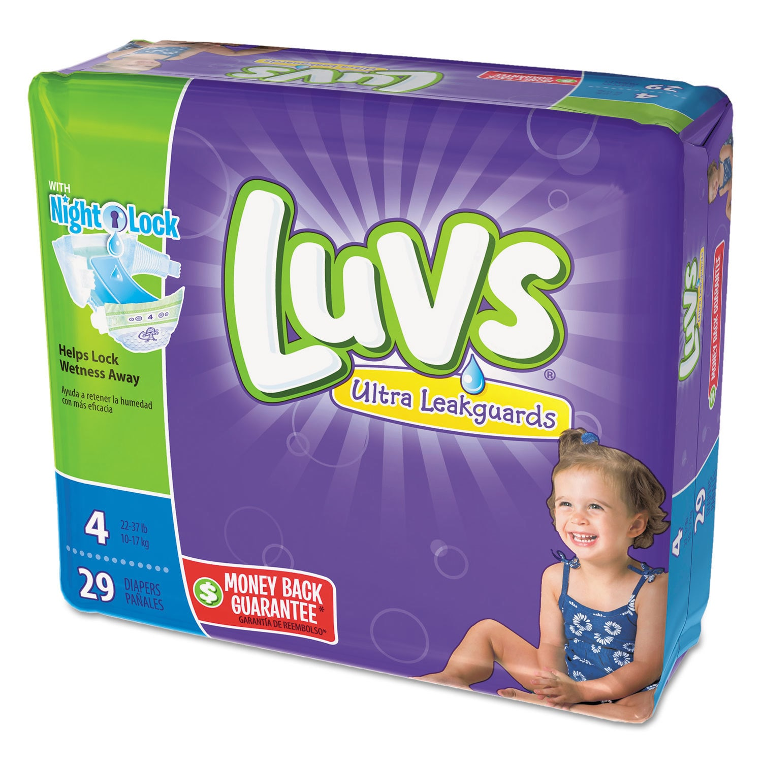 Luvs Diapers Size 4 22 to 37 -pound 29/Pack 4 Pack/Carton...