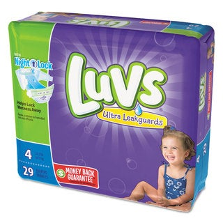 Luvs Diapers Size 4 22 to 37 -pound 29/Pack 4 Pack/Carton