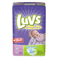 Luvs Diapers with Leakguard Newborn 4 to 10 -pound 40/Pack 4 Pack/Carton