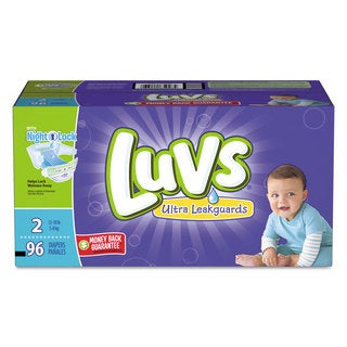 Luvs Diapers with Leakguard Size 2: 12 to 18 lbs 96/Carton