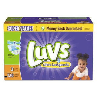 Luvs Diapers with Leakguard Size 3: 16 to 28 lbs 120/Carton