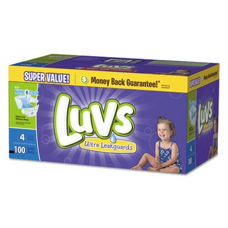 Luvs Diapers with Leakguard Size 4: 22 to 37 lbs 100/Carton