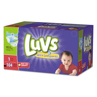 Luvs Diapers with Leakguard Size 8 to 14 -pound 104/Carton