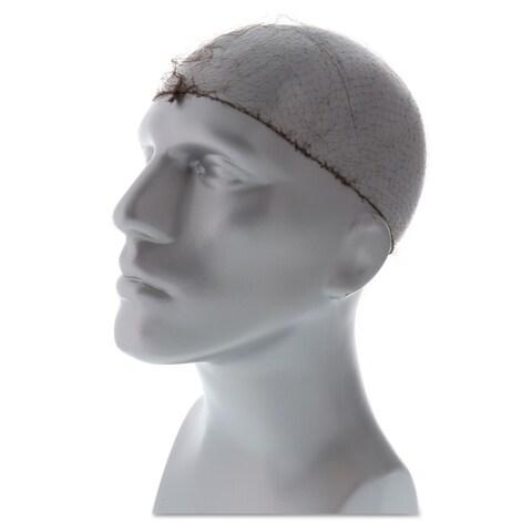 Royal Lightweight Latex-Free Hairnets Dark Brown 24-inch Nylon 144/Box