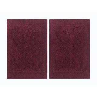 Splendor Reversible 2-Piece Step Out Bath Mat Set - Burgundy 17x24""