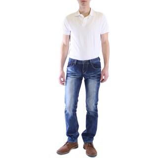 Dinamit Men's JT Blue Straight-leg Jeans