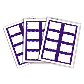 C-Line Laser Printer Name Badges 3 3/8 x 2 1/3 White/Blue 200/Box